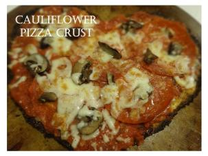 cauli heart pizza crust